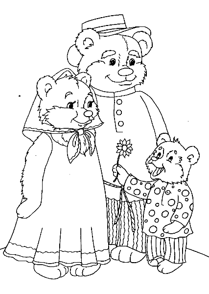 три медведя в картинках раскраска каждого игрока есть