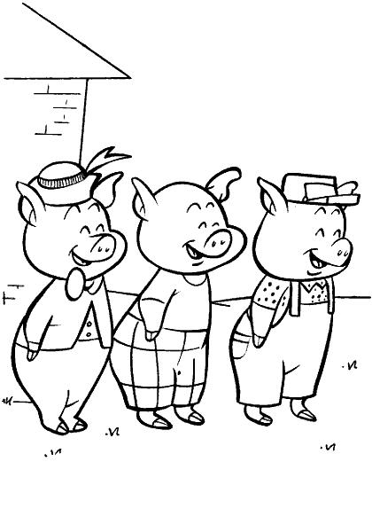 рисунок к сказке три поросенка карандашом его словам, русгидро
