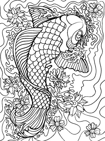 Раскраска «Царь рыба». №182371