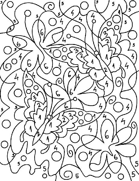 Раскраска «Цветы и бабочки». №17758