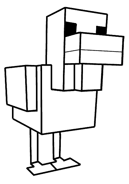Раскраска «Утка Minecraft». №22713