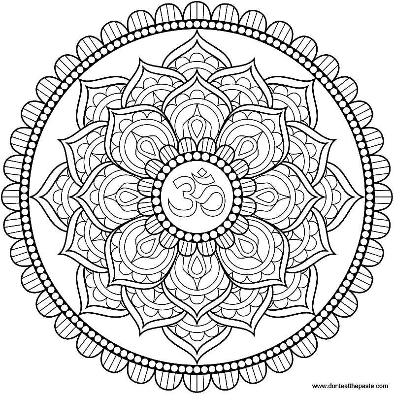 Раскраска «Мандала». №43238