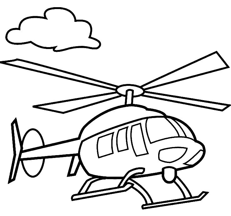 Раскраска «Вертолет». №32047