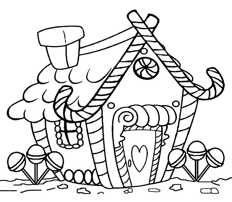 Раскраска «Вкусный домик». №24867