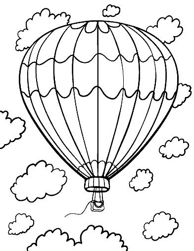 Раскраска «Воздушный шар». №164887
