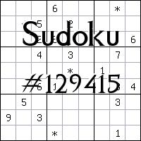 Судоку №129415