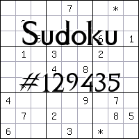 Судоку №129435