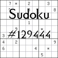 Судоку №129444