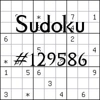 Судоку №129586