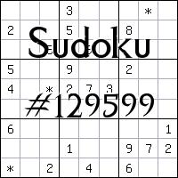 Судоку №129599