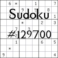 Судоку №129700