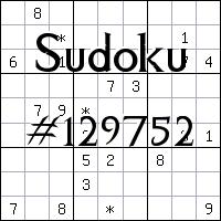 Судоку №129752
