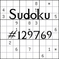 Судоку №129769