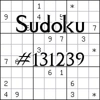 Судоку №131239
