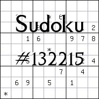 Судоку №132215