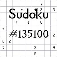 Судоку №135100