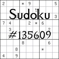 Судоку №135609