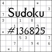Судоку №136825