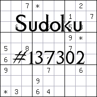 Судоку №137302