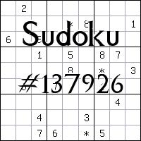 Судоку №137926