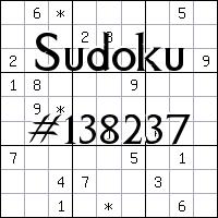 Судоку №138237