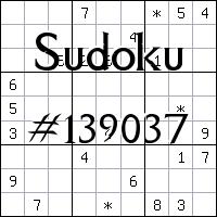 Судоку №139037