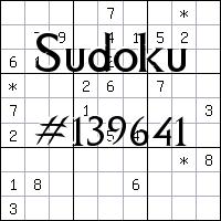 Судоку №139641