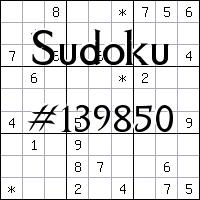 Судоку №139850