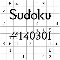 Судоку №140301