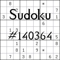Судоку №140364