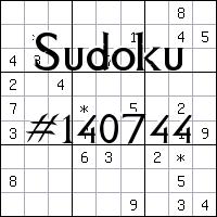 Судоку №140744