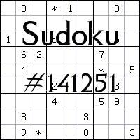 Судоку №141251