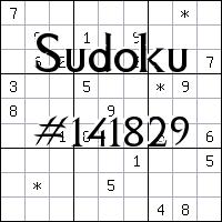 Судоку №141829