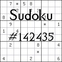 Судоку №142435