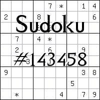 Судоку №143458