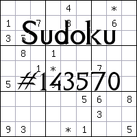 Судоку №143570