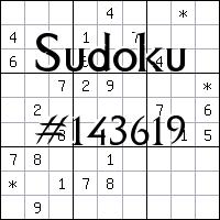 Судоку №143619