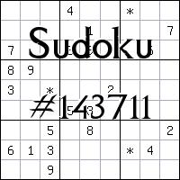 Судоку №143711
