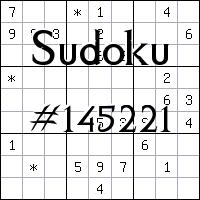 Судоку №145221