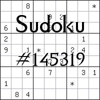 Судоку №145319