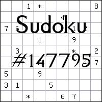 Судоку №147795