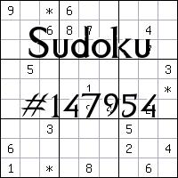 Судоку №147954