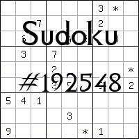 Судоку №192548