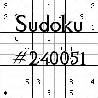 Судоку №240051