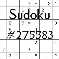 Судоку №275583