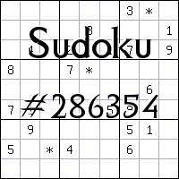 Судоку №286354