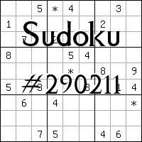 Судоку №290211