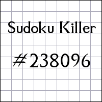 Судоку-киллер №238096