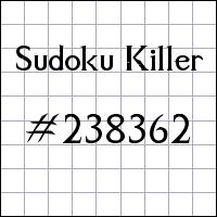 Судоку-киллер №238362