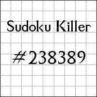 Судоку-киллер №238389